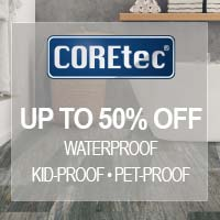 COREtec waterproof flooring is perfect for any room in your home - available at Fine Floorz in Walnut Creek.