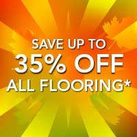 Save up to 35% off all flooring All month long!