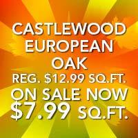 Castlewood European Oak flooring starting at $7.99 sq.ft. at Fine Floorz